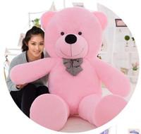 Wholesale Big Teddy Bear 2m - Giant teddy bear 200cm 2m large big stuffed toys animals plush life size kid children baby dolls girl Christmas valentine gift