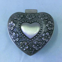Wholesale Metal Heart Shaped Jewelry Box - Exquisite Heart-Shaped Metal Jewelry Packaging Box 7*6*3cm Fits Pandora Jewelry Ring Charms Bracelet Beads Pendant Necklace Gift Display Box
