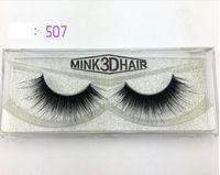 Wholesale Eye Lashes Human Hair - High Quality 1 Pairs set Beauty Thick Makeup False Eyelashes 100% Real Mink Handmade Eye Lashes Extension