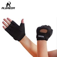 Wholesale Finger Support Gloves - Wholesale- High-quality Multicolor Fitness Exercise Training Gym Gloves Anti sports slip Half Finger gloves for Men And Women RODEX