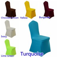 Wholesale Spandex Stretch Chair - spandex chair cover colourful flat front lycra stretch banquet chair cover for wedding decoration wholesale cheap price fit all chairs