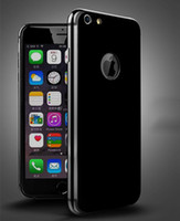 Wholesale Iphone Soft Glossy Case - For iphone 7 case TPU soft cell phone case for iphone 7plus high quality With hole glossy black case for iphone