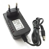 Wholesale AC100V V light Switch Power Supply Charger Transformer Adapter to DC V A RGB LED Strip EU Cord Plug Socket