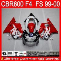 Wholesale 99 Honda Cbr F4 - 8Gifts 23Colors Bodywork For HONDA CBR600 F4 1999 2000 CBR 600F4 30NO61 CBR600F4 99 00 CBR 600 F4 99-00 red black CBR600FS FS Fairing Kit