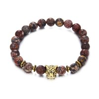 Wholesale Bracelet Pass - 2017, the new Bracelet pass, red agate beads, 8mm leopard head, hand energy, hand string jewelry Natural stone
