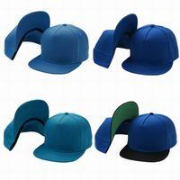 5d7684aee8d Fashion Blue Plain Blank Snapback Caps Hats Men Women Sport Snap back  Summer Sun Visor Glof Baseball Cap Hip Hop Adjustable Hat