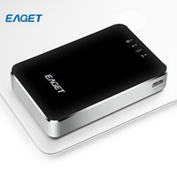 Wholesale Hard Drive Phone - Wholesale- EAGET A86 1TB Wireless USB 3.0 High-Speed External Hard Disk Drives HDD 3G Router 3000mA Polymer Mobile Phone Power Bank
