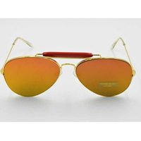 Wholesale Pc Flat Panel - sunglasses women brand designer Metal Frame Reflective Coating Mirror Flat Panel Lens glasses oculos de sol masculino 108
