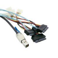 Wholesale Server Scsi Hard Disk - 10pcs lot External Mini SAS HD 4x SFF-8644 to 4 SAS SFF-8482 29PIN 6Gbps Hard Disk data server Raid Cable 1.5m,By Fedex