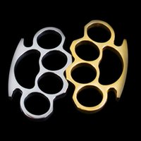 Wholesale Thick Silver Pendant - New ARIVAL Silver THICK STEEL BRASS KNUCKLES DUSTER BUCKLE Brass Knuckle Dusters Charm Pendants Free drop shipping