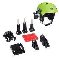 Wholesale Adhesive Mount For Gopro - Helmet Side Mount Kits 3 Way Adjustable Pivot Arms + Flat Base + Curved Mount + 3M Adhesive for Gopro Hero 5 4 3+ 3 2 SJ400
