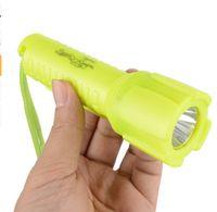 luces de buceo bajo el agua al por mayor-Linterna de buceo 1000LM Antorcha subacuática impermeable Luz de la lámpara Natación Caza Iluminación Color amarillo