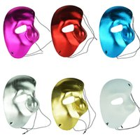 Multicolorois à gauche demi-face Phantom Of The Night Opera Hommes Femmes Masques Masquerade Party Masked Ball Mask Wholesale