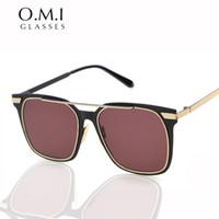 Wholesale Korea Celebrity - 2017 Korea Vintage Gentle Sunglasses Cool Men Women Superstar Celebrity Style Sun Glasses Shades Brand Designer OM187