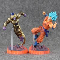 Wholesale Red Dolls - Dragon Ball Z Resurrection F Golden Frieza freeza freezer VS Goku Action Figure Model Toy PVC Collective Doll