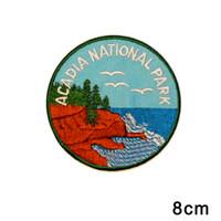 ingrosso parchi americani-Patch per souvenir del parco nazionale di Maine Acadia Patch americana per abbigliamento da viaggio Iron-On per jeans