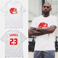 Wholesale Lebron T Shirts - T shirts Homme LeBron James Men's cotton Short-sleeve T-shirt new fashion summer basketball jersey top Plus Size,tx2365
