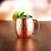 Wholesale Decoration Mug - Handmade Moscow Mule Copper Mugs Set Of Four Hammered Cups Drinking Copper Cup Milk Beer Coffee Hammered Mugs Moscow Steel Bottle