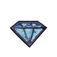 ingrosso jeans di modo del sacchetto-Patch di paillettes a forma di diamante da 10 pezzi per ferro da stiro su patch di moda per applique transfer per borse di jeans cucito fai da te su paillettes da ricamo