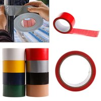 Wholesale Duct Cloth - Wholesale- 2016 10M x 50mm Waterproof Sticky Adhesive Cloth Duct Tape Roll Craft Repair 8 Color