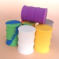 Wholesale Silicone Oil Barrel Container ml Large Dab Wax Jar Non stick Silicone Bong Oil Drum Rubber Dry Herb Dabber Tools