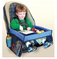 ingrosso cinture di sicurezza per auto-5 colori Baby Toddlers Cintura di sicurezza per auto da viaggio vassoio vassoio pieghevole tavolo impermeabile copertura del seggiolino auto per bambini Harness Buggy Passeggino Snack B001