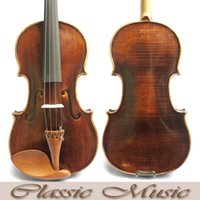 Wholesale Violin Oil Varnish - Wholesale-Antique Amati violin,Professional Violin Workshop .No.2403. Deep&Dark tone,100% Handmade Oil Varnish, Great setup
