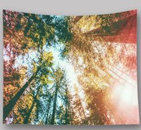 Wholesale embroidering tapestries resale online - 2 m m natural scenery starry sky photo tapestry dining room decorative painting home art wall hanging beach towel