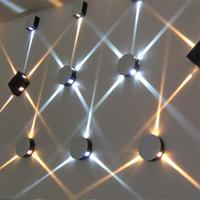 ingrosso luce di notte incrociata-3W 6W 9W 12W Luci a forma di stella a stella Lampade a parete moderne a LED per comodino Luci notturne a LED Luci da corridoio per interni KTV Quadrate / Rotonde