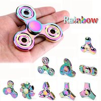 Wholesale Color Plastic Skateboards - much model mix color hand spinner finger tirospinner edc torqbar handspinner toys for decompression axiety duable toy for autism