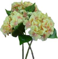 ingrosso ems decor-Commercio all'ingrosso libero di SME le migliori offerte fiore artificiale dell'ortensia singolo grandi teste 2 foglie (diametro 6