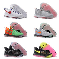 Wholesale Cheap Kd Boots - Drop Shipping Wholesale Basketball Shoes Men KD 9 Durant IX Boots Cheap Sneakers High Quality 2017 New Color KD9 Sports Shoes Size 40-46
