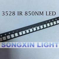 UK cctv ir lights - Wholesale- 100pcs Free shipping 850nm IR SMD LED diode 3528 Infrared led 1.4-1.5V CCTV light diode