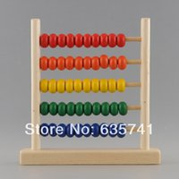 Wholesale Wood Beads Abacus Counting - Wholesale- 5-Row Classic Bead Wooden Abacus Child Educationnal Calculate Count Numbers Drop Shipping