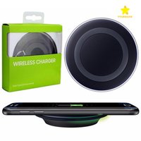 Wholesale Qi Charging Pad Receiver - Universal Wireless Charger Fast Charging For Samsung Galaxy S6 Charging Pad QI Standard With Retail Box