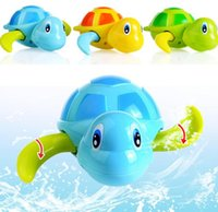 Wholesale Cute Toddler Toys - Wind Up Water Cute Water-drinking Float Swimming Water Play Watch Winding Up Educational Turtle Toddler Toys Baby Bath YH983
