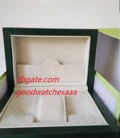 Wholesale Paper Sales - Hot sale Green Brand Watch Original Box Papers Card Purse Gift Boxes Handbag 185mm*134mm*84mm 0.7KG For 116610 116660 116710 Watches