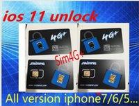 Wholesale 3g Wcdma T - Saitong SIM4G+ ios11 GPPLte unlock card ios10.3 Sprint ATT T-MOBILE iphone7plus i7 6s plus, 6 ,5, 5S iphone7 4G 3G wcdma networking