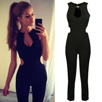 black union suit - Backless Jumpsuit Women Black Jumpsuit Rompers Chiffon Overall Union Suit Playsuit bodysuit One Piece Hot Pants