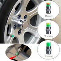 mazda monitörü toptan satış-Mini 2.4Bar Araba Lastik Lastik Basıncı caps TPMS Araçları Uyarı Monitör Vana Göstergesi 3 Renk Uyarısı Teşhis Araçları Aksesuarları