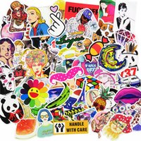 Wholesale Laptop Stickers Sale - 100 Pcs Mixed Stickers Hot Sale Snowboard Doodle Lage Laptop Decal Toys Bike Car Motorcycle Phone Cartoon Jdm Funny Sticker
