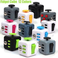 Wholesale Eva Cube - Newest Fidget cube Popular Toy magic decompression anxiety hand spinner stress relief Portable finger anti irritability 12 Colors Toys DHL