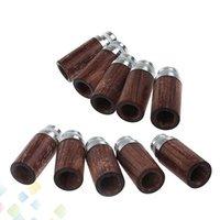 tropfspitzen holz großhandel-Hohe Qualität Holz Edelstahl Drip Tipps Holz Zigarre Tipps mit Weitloch einfach für tropfende Verdampfer DHL frei