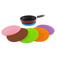 Wholesale Heating Pad Freeshipping - Wholesale-2015 Colorful Items Candy Honeycomb Silicon Placemat Pot Mat Non-slip Heat Resistant Pad Coaster 8C7L