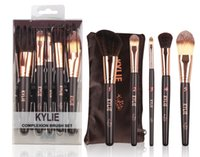 Wholesale Making Hand Cream - Hot Sale Kylie Makeup Brush 5pcs set Make Up Brushes Brush hand wood Eyeshadow BB Cream Factory Direct Make Professional Cosmetic DHL Ship