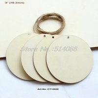 Wholesale mm Unfinished Wooden Circle Pendants Rustic Blank Wood Round with Hole quot CT1202E