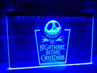 LC128b- Nightmare avant Noël NOUVEAU LED Neon Light Sign