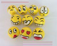 emotionales gesicht großhandel-Neuer SPASS Emoji Gesichts-Pressungs-Kugel-Druck entspannen sich emotionale Spielzeug-Kugel-Spaßkugeln EMS, der E1789 versendet