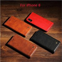 Wholesale Vintage Style Iphone Cases - Vintage style iPhone X case 8 8P very fashionable latest leather iphone case Handmade wallet case Samsung note 8,S8 S8 Plus