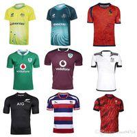 Wholesale Spain National Team - 2017 Australia Spain rugby jerseys Fiji Ireland New Zealand Malaysia national team rugby shirts top quality jerseys